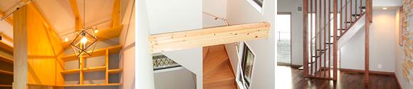 木造住宅用の軸組にSSマルチ金物工法を採用しています